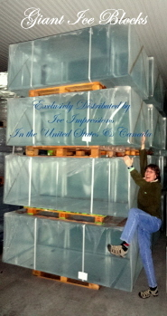 Giant Ice Blocks, Very Big Ice Blocks, Largest Clear Ice Blocks, Blocks of Ice, Ice Blocks for Carving.