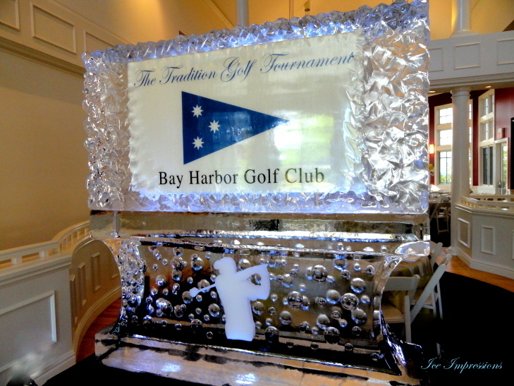 The Tradition Golf Tournament, Bay Harbor Golf Club, Bay Harbor Golf Club Ice Sculpture Display Presentation, Ice Impressions, Golf Event Ice Sculptures, Sporting Event Ice Sculptures, Michigan Ice Sculptures, Pure Michigan, Ice Impressions, Ice Impressions Custom Ice Sculptures, Ice Sculpture, Ice Sculptures, Ice Carvings, Ice Carving.