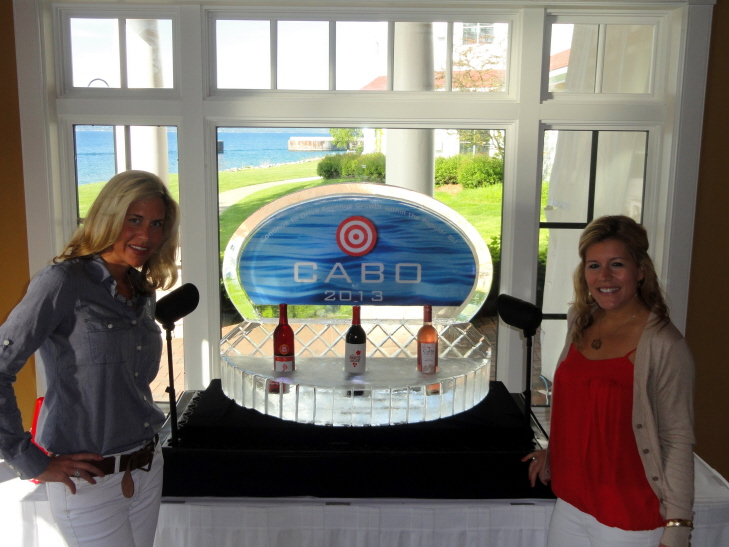 Custom Brand Promotions Ice Sculpture Presentation, Wine Ice Bar, Ice Bars, Bar made out of claer Ice, custom Ice bar.