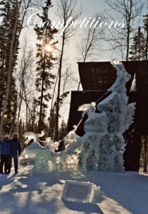 Balto's Charge, Ice Impressions, Alaska, Fairbanks Alaska,