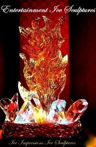 Fire and Ice, Fire and Ice Ice Sculptures, Ice Sculptures, Ice Carvings, Ice Carving, Ice Sculpture, Graduation Ice Sculptures, Graduation Ice Carvings.