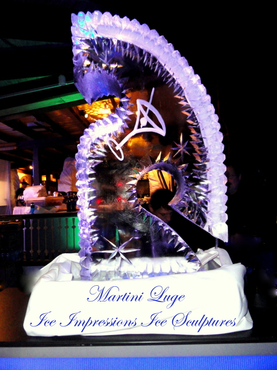 Ice Impressions, Ice Luge, Michigan Ice Luge, Entertainment Ice Sculpture, Ice Sculpture, Ice Carving, Ice Carvings, Northern Michigan Ice Carvings.