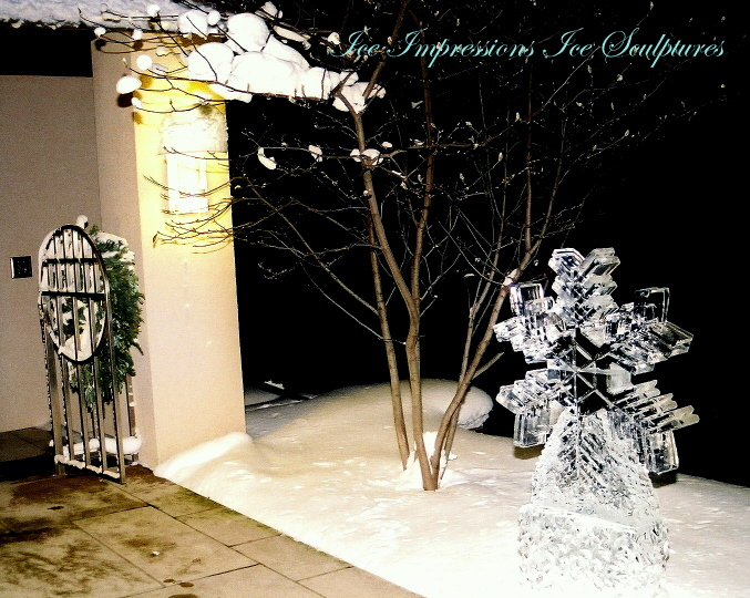 Snowflake Ice Sculpture, Ice Impressions, Ice Sculptures, Ice Carvings, Ice Carving, Ice Sculpture, Ice Impressions, Steven Berkshire.