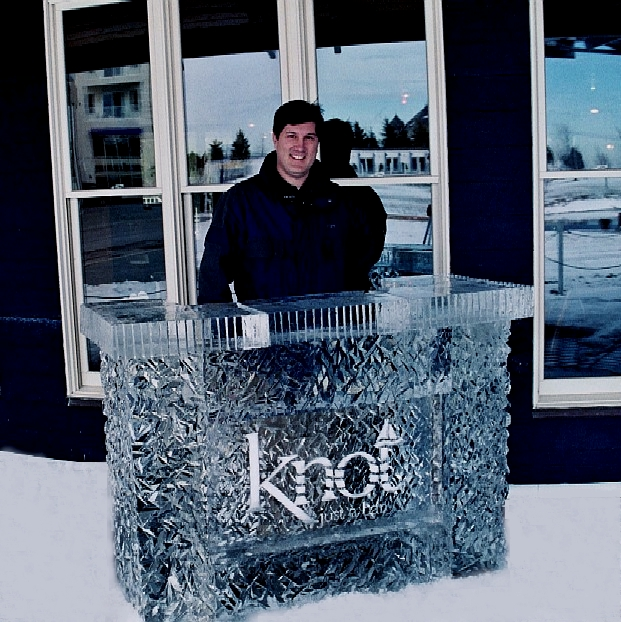 By Ice Impressions, ice-impressions.com, Ice Impressions Custom Special Event Ice Sculptures, Ice Impressions Custom Ice Sculptures, Ice Sculptures, Knot Just a Bar Ice Bar, Bay Harbor Ice Festival Ice Sculptures
