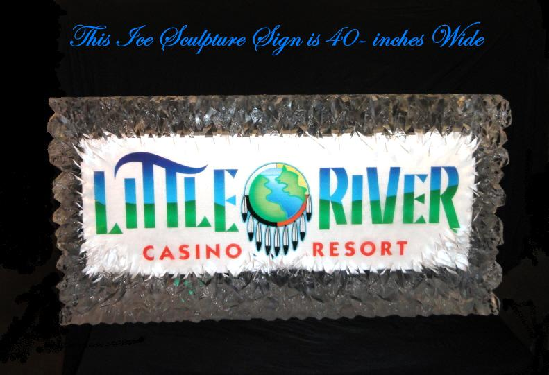 ice sculpture sign, ice sign, ice sculpture, ice carving, ice sculptures