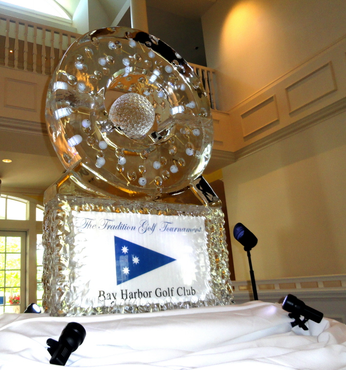 Ice Sculpture, Ice sculptures, ice carvings, ice carving, Golf Tournament Ice Sculpture Presentation, Bay Harbor, Bay Harbor Ice Sculptures, Bay Harbor Ice Sculpture, Bay Harbor Ice Carving, Bay Harbor Ice Carvings, The Tradition Golf Tournament, michigan ice sculptures, northern michigan ice sculptures, northern michigan ice carvings, golf ball ice sculpture, golf, golf ice carving, golf ball ice carving, golf tee ice carving, ice sign, event promotion signs, event signs, special event ice signs, michigan ice, ice blocks michigan, ice blocks, ice carving blocks, custom ice sculptures, michigan golf tournement, michigan golf tournaments, michigan golf course, michigan gold courses, northern michigan golf, michigan golf, golf tournaments, United States Golf Tournaments, ice impressions.
