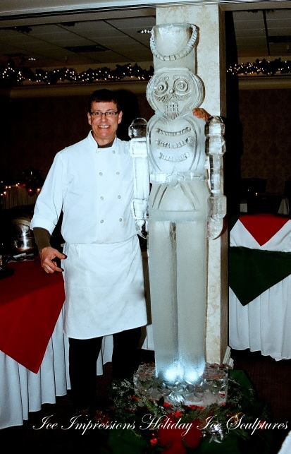 By Ice Impressions, ice-impressions.com, ice sculptures, ice sculpture, ice carving, ice carvings, custom ice sculptures, special event ice sculptures, Nut Cracker Ice Sculpture, Toy Soldier Ice Sculpture, Ice Impressions, Ice Impressions Ice Sculptures