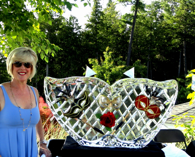 Ice Impressions, Ice Luge, Mask Ice Sculpture, Ice Carving, Ice Sculptures, Ice Sculpture, Ice Carvings.