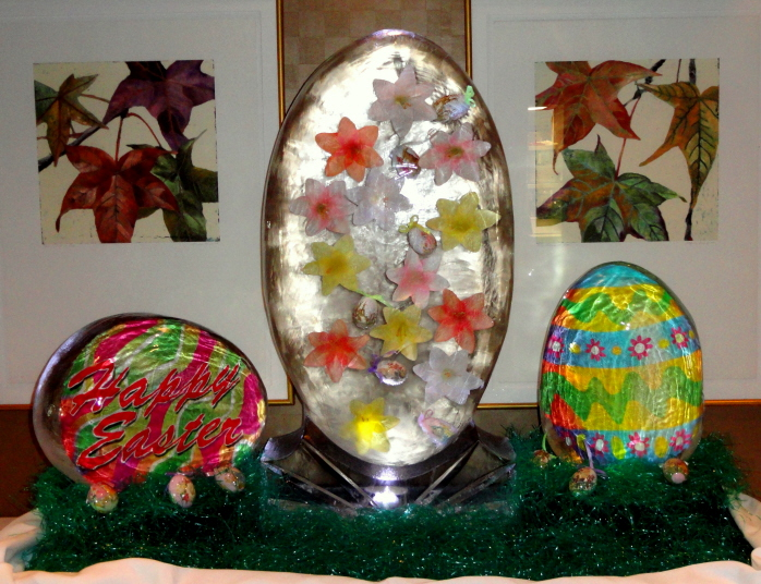 Easter Egg Ice Sculptures
