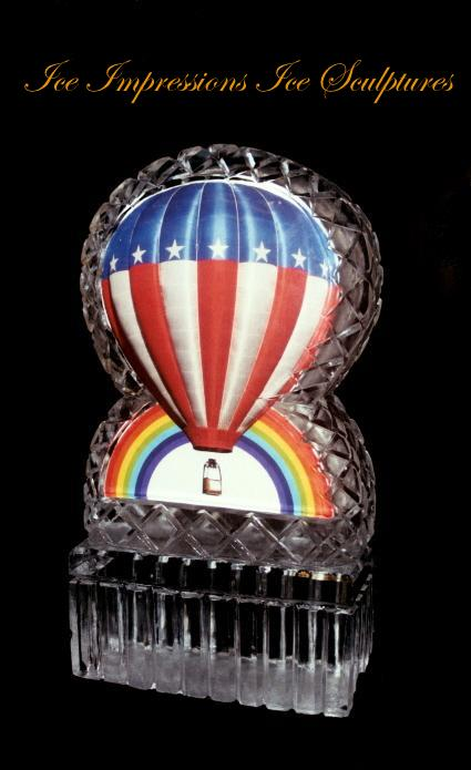 Hot Air Balloon Ice Sculpture