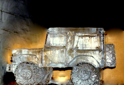 Jeep Ice Sculpture, Vehicle Ice Sculpture Michigan