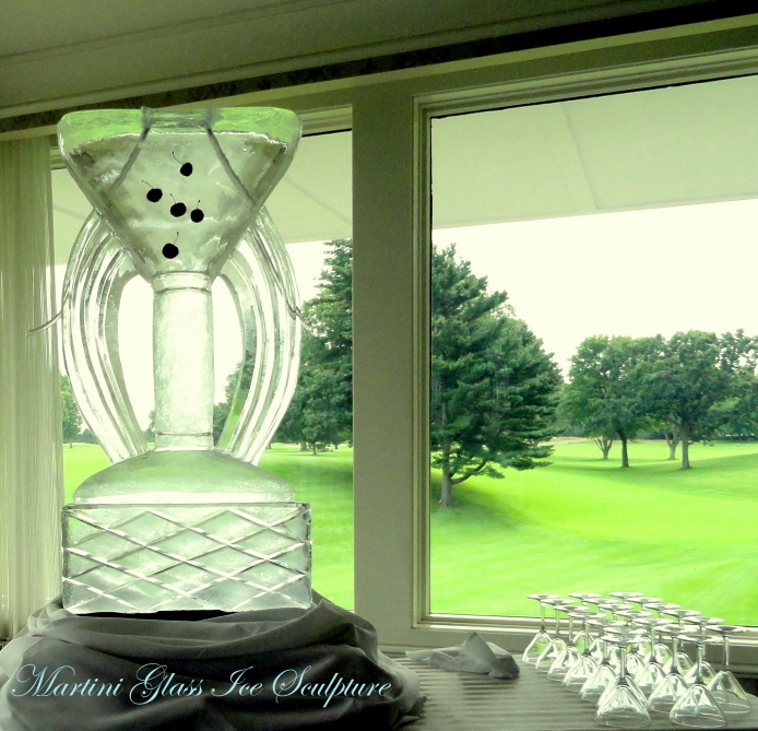 michigan ice sculptures, martini glass ice sculpture, martini glass, ice sculpture, ice sculptures