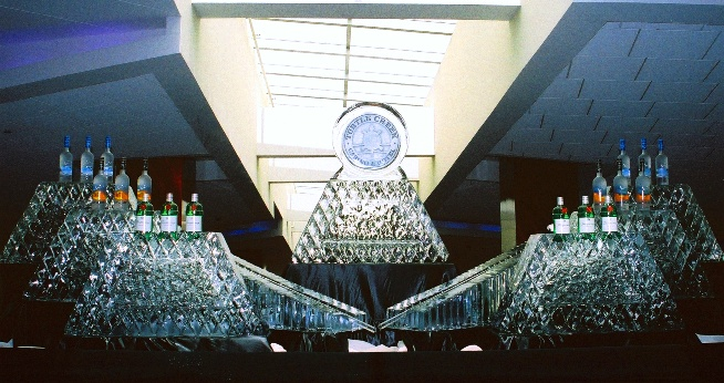 Turtle Creek Casino and Hotel Grand Opening Ice Sculpture Presentation, Ice Impressions.