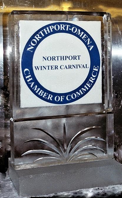 Northport Omena Chamber of Commerce Ice Sculpture, Michigan Ice Sculptures