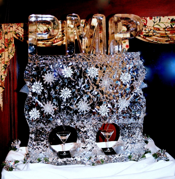 Ice Luge, Double Ice Luge, Ice Impressions, Ice Sculptures, Ice Carvings.
