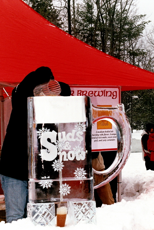 Beer Luge Ice Sculpture, Michigan Ice Sculpture
