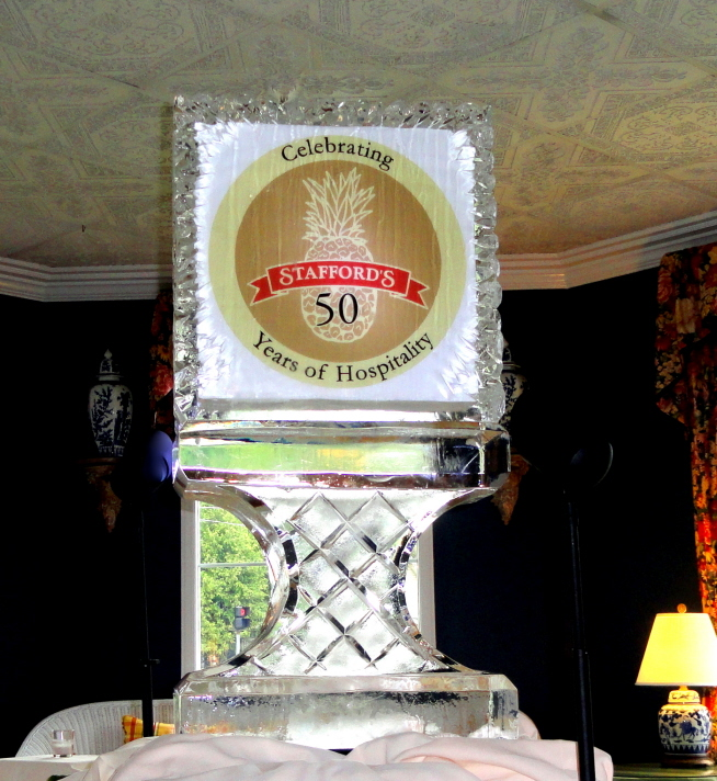 Stafford's Hospitality 50th Anniversary Ice Sculpture, Ice Impressions Ice Sculptures, Ice Impressions.