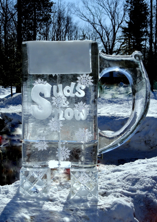 Michigan ice sculptures, Beer Ice Luge, Ice Luge